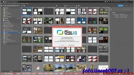 rozhraní produktu zoner foto studio pro 18