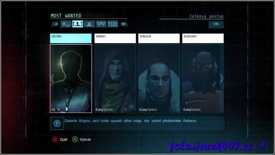 herní menu s uzavřenými případy