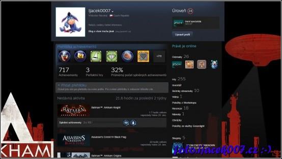 pohled na steam profil