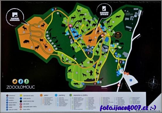 informační mapa z areálu zoo