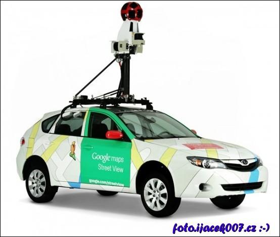 obrázek google street View auto