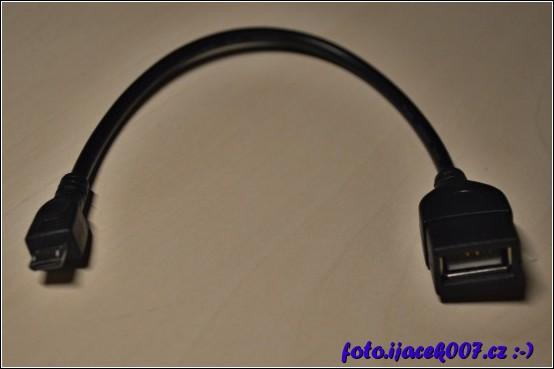 Usb kabel pro připojení USB zařízení k Android přístrojům.