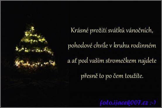 přání k Vánocům a novému roku