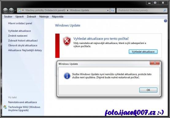 Oprava - Služba Windows Update nemůže vyhledat aktualizace