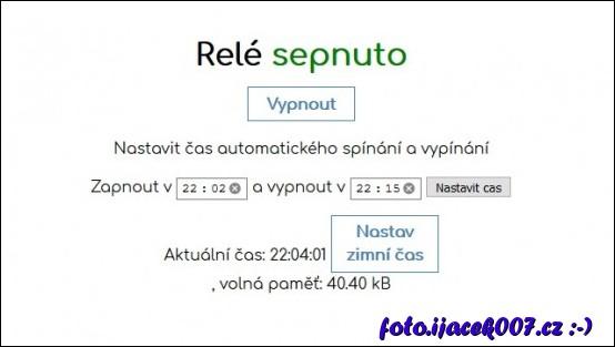 podoba webového rozhraní