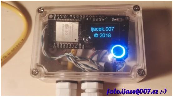 pohled na finální instalaci do elektroinstalační krabičky