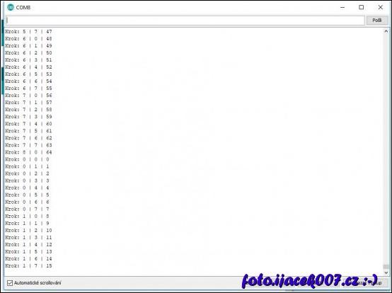 debug pomocí sériové linky