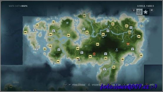 obrázek mapa ostrova