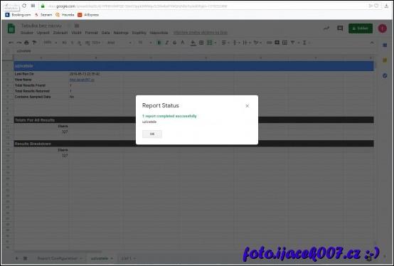 Pokud se provede import dat v pořádku pak se obsah uloží do sloupcu tabulky.
