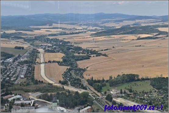 Krnov pohled směrem na město Albrechtice.