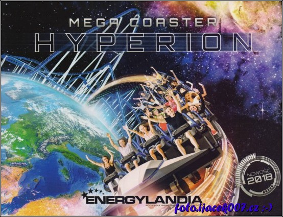 grafikcká obálka fotky z atrakce Hyperion