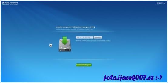 Pohled na instalátor s vybraným staženým instalačním balíčkem.
