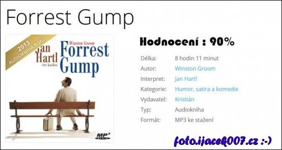 Hodnocení audioknižní verze knihy Forrest Gump