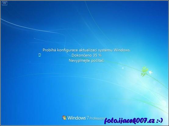 Spouštění systému Windows 7 a instalace aktualizaci