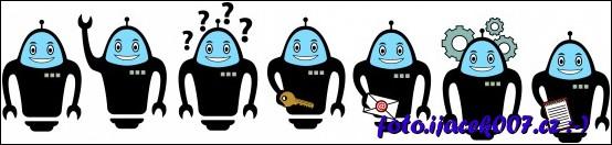 Graficky zpracovaní roboti pro portál Agregátor Blogů.