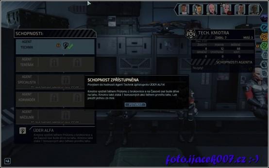 každá mise zoceluje tvé bojovníky a poté také dovede odemknout speciální bojové schopnosti unikátní pro každého vojáka.