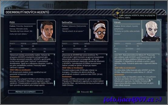 Popis speciálních agentu a jejich příběhů.