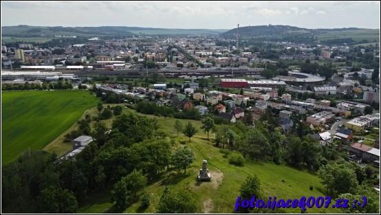 Pohled na Krnov od Bezručova vrchu.