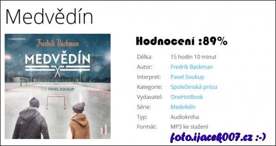 Hodnoceni a detaily audioknihy Medvědín