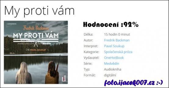 Hodnoceni a popis audioknihy