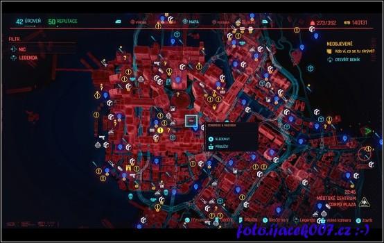 Pohled na část mapy hry.