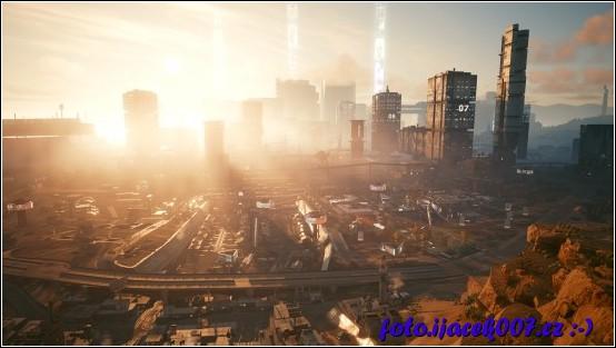 Nostalgický pohled na město na jednom z konců hry.