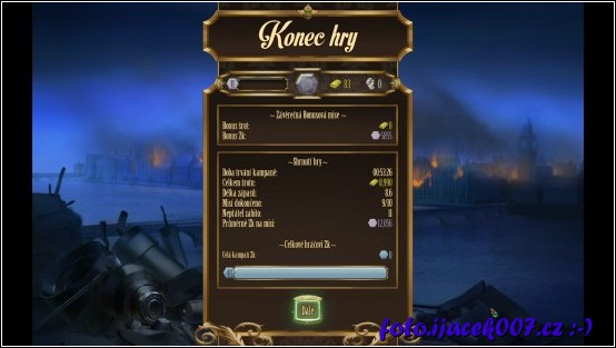 Při každem konci hry hráč obdrží body díky kterým se odemiká malé vyplepšení.
