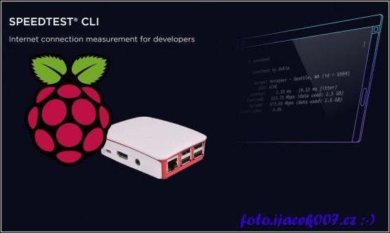 Grafika Raspberry a Speedtestu