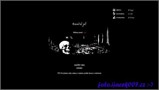Alespoň ze začátku častá obrazovka konce hry.