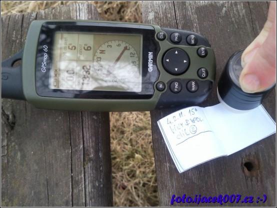 záber na GPS přístroj Garmin GPSmap 60