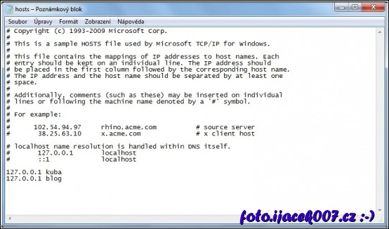 windows hosts soubor