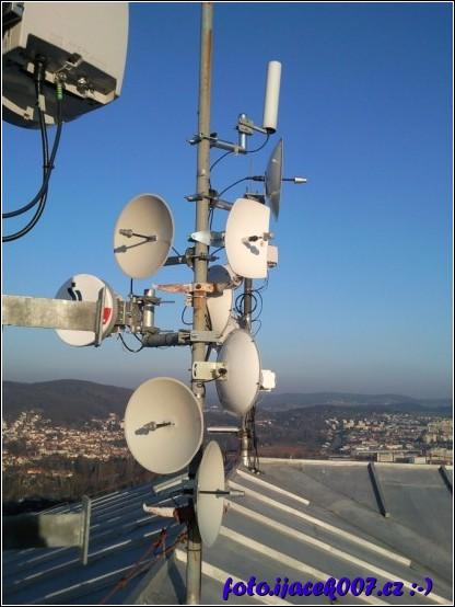 pohled na WiFi místního internetového provozovatele.