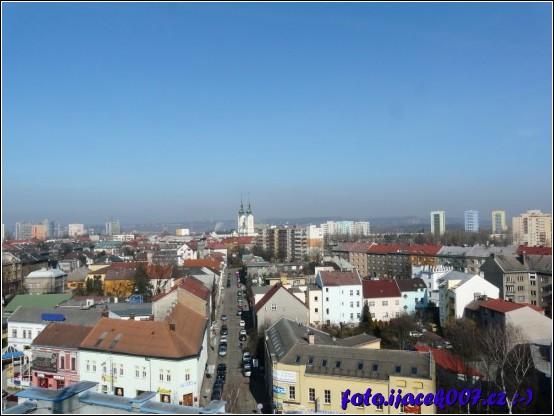 výhled ze střechy na Ostravu